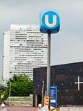 Vienna U-Bahn sign Royalty Free Stock Image