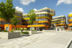 Vienna University campus. The central building, the Library & Learning Center, is surrounded by five building complexes designed by internationally renowned Stock Image