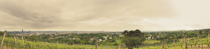 Vienna. View from Kahlenberg to Vienna, Austria royalty free stock photography