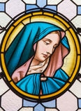 Vienna - Virgin Mary from windowpane in Carmelites church in Dobling by Geyling workroom Stock Images