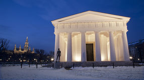 Vienna - Volksgarten. Theseus temple from years 1819 Stock Image