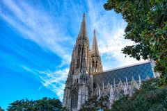 Vienna Votive Church on a Sunny day. Austria.  royalty free stock photography