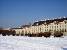 Vienna in winter Stock Photography