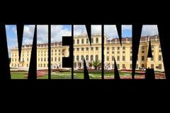 Vienna word Stock Image