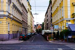 Vienna Yellow Street royalty free stock images