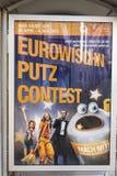 Viennas city cleaning advertisinguses the european song festival. VIENNA, AUSTRIA - APR 27, 2015: viennas city cleaning advertisinguses the european song stock photo