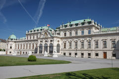 Vienne, Autriche Belle vue de résumé célèbre de belvédère de Schloss photo libre de droits