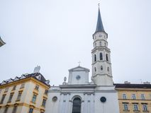 VIENNE, AUTRICHE - 17 FÉVRIER 2018 : Autour du palais impérial de Hofburg presque le célèbre à Vienne, Autriche image stock