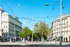 VIENNE, AUTRICHE 3 juillet : Rue de Graben de touristes à pied dans Vienn Photographie stock libre de droits
