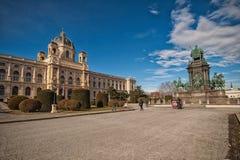 Vienne, Autriche-- Le 7 mars 2018 : extérieur du musée de l'histoire naturelle de Vienne photos libres de droits