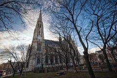 Vienne, Autriche-- Le 7 mars 2018 : L'église votive Votivkirche situé sur le Ringstrasse à Vienne photographie stock libre de droits