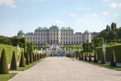 vienne Belvédère complexe de palais et de parc photographie stock libre de droits