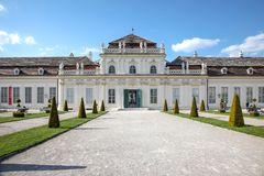 vienne Belvédère complexe de palais et de parc images stock