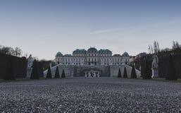 Vienne - belvédère - jardin d'arrière photo stock