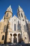 Vienne - façade occidentale gothique d'église de monastère à Klosterneuburg image libre de droits