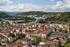 Vienne France et fleuve de Rhône Image stock