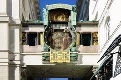 Vienne, horloge d'Anker Photos libres de droits