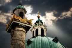 Vienne Karlskirche, détail image libre de droits