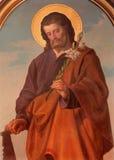 Vienne - la peinture de Madonna sur l'autel latéral de l'église de Sacre Coeur par Anna Maria von Oer (1846-1929) Photographie stock libre de droits