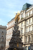 Vienne, monument dans la rue de Graben Images stock
