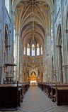 Vienne - Nave de nouveau - église gothique de Votivkirche Image libre de droits