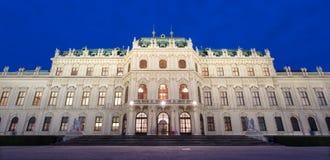 Vienne - palais de belvédère au crépuscule images libres de droits