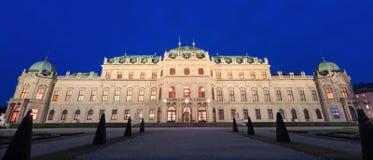 Vienne - palais de belvédère au marché de Noël image libre de droits