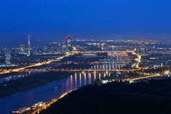 Vienne par nuit photographie stock libre de droits