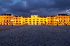 Vienne par nuit, palais de Schonbrunn Photo libre de droits