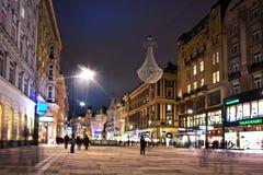 Vienne - rue célèbre de Graben à Image stock