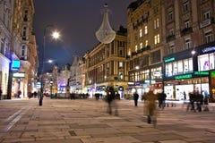 Vienne - rue célèbre de Graben à Images libres de droits
