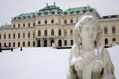 Vienne - sphinx de palais de belvédère images stock