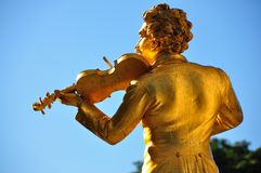 Vienne - statue de J.Strauss dans Stadtpark images libres de droits