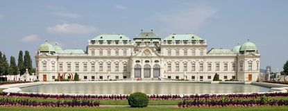 Vienne visitant le pays : Palais de belvédère photographie stock libre de droits