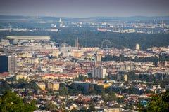 Vienne vue des collines photo stock