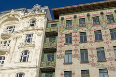 Viennese architecture Art Nouveau, Otto Wagner Stock Photos