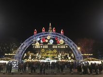 Christmas market in Vienna, Austria. Viennese Christmas Market in front of the City Hall of Vienna, Austria. This is the largest and the best-known of all the stock photo