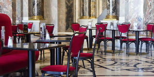 Viennese coffee house in red and black Royalty Free Stock Images