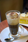 Viennese coffee with whipped cream Stock Photos