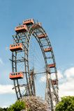 Viennese ferris wheel in the Prater area Royalty Free Stock Photos