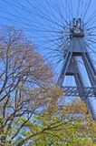 Viennese giant wheel in Prater amusement park at Vienna Stock Image