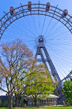 Viennese giant wheel in Prater amusement park at Vienna Royalty Free Stock Photography