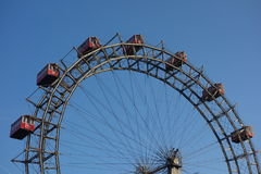 Viennese giant wheel in the Prater Park Royalty Free Stock Photos