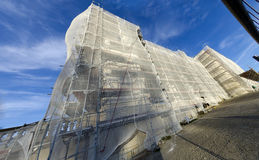 Viennese Gloriette with scaffold Royalty Free Stock Photo
