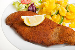 Viennese schnitzel Royalty Free Stock Image