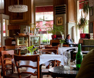 Viennese style interior design and people inside Royalty Free Stock Photos