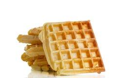 Viennese sweet waffles Stock Photos