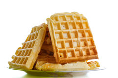 Viennese sweet waffles Royalty Free Stock Images