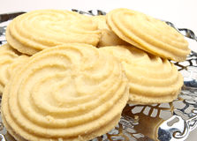 Viennese Swirl Biscuits close up Royalty Free Stock Image