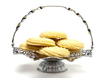 Viennese Swirl Biscuits platter Stock Images